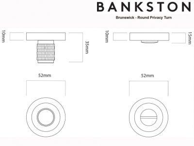 Bankston Brunswick Antique Bronze Round Privacy Turn