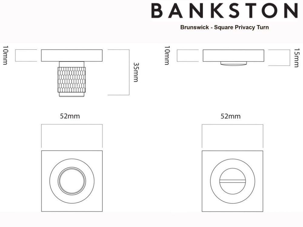 Bankston Brunswick Antique Bronze Square Privacy Turn