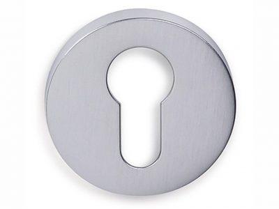Groel Round Euro Keyhole Escutcheon