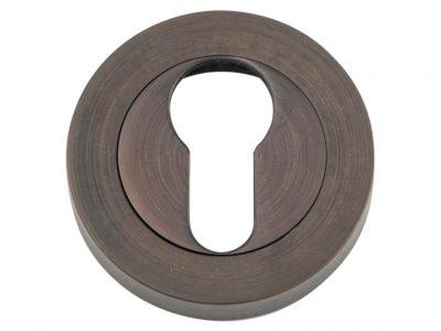 Bankston Antique Brass Round Euro Keyhole Escutcheon