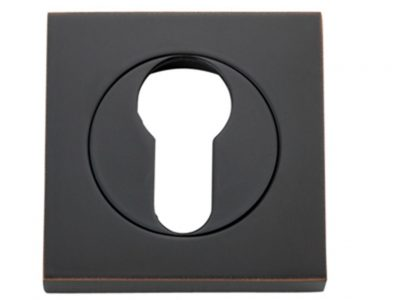 Bankston Antique Copper Square Euro Keyhole Escutcheon