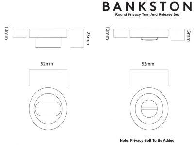 Bankston Antique Brass Round Privacy Turn