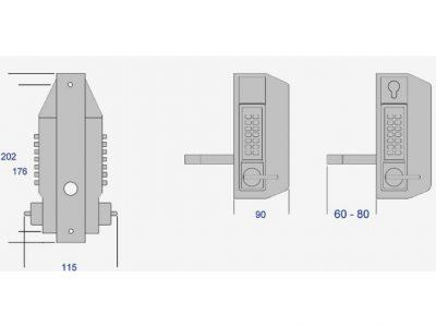 Borg Mechanical Double Digital Keypad Gatelock