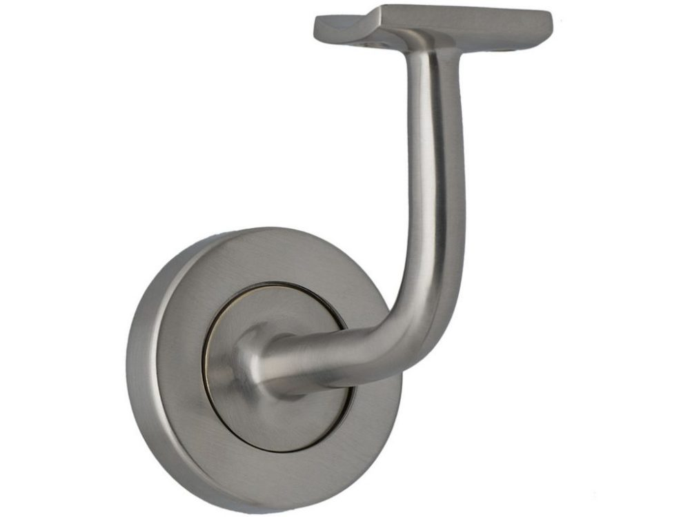 Miles Nelson Solid Brass Handrail Brackets With Round Base
