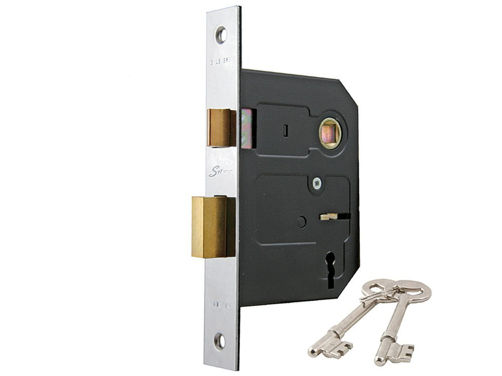 Sylvan 45mm Backset 3 Lever Mortice Lock