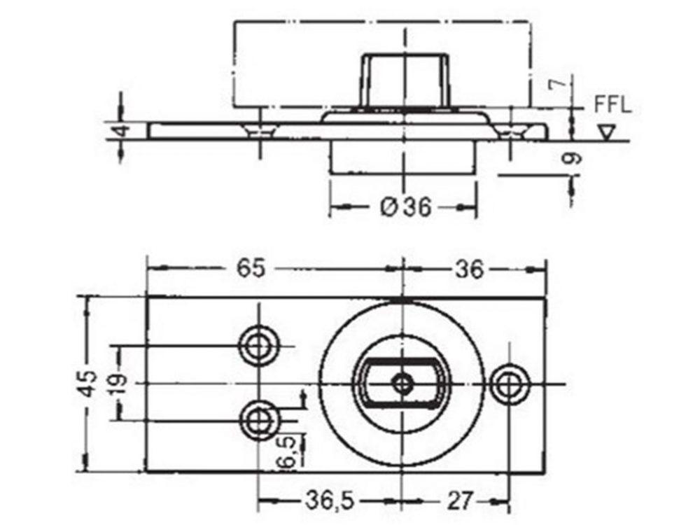 Dorma RTS 85G Standard Floor Pivot For Tempered Glass Doors