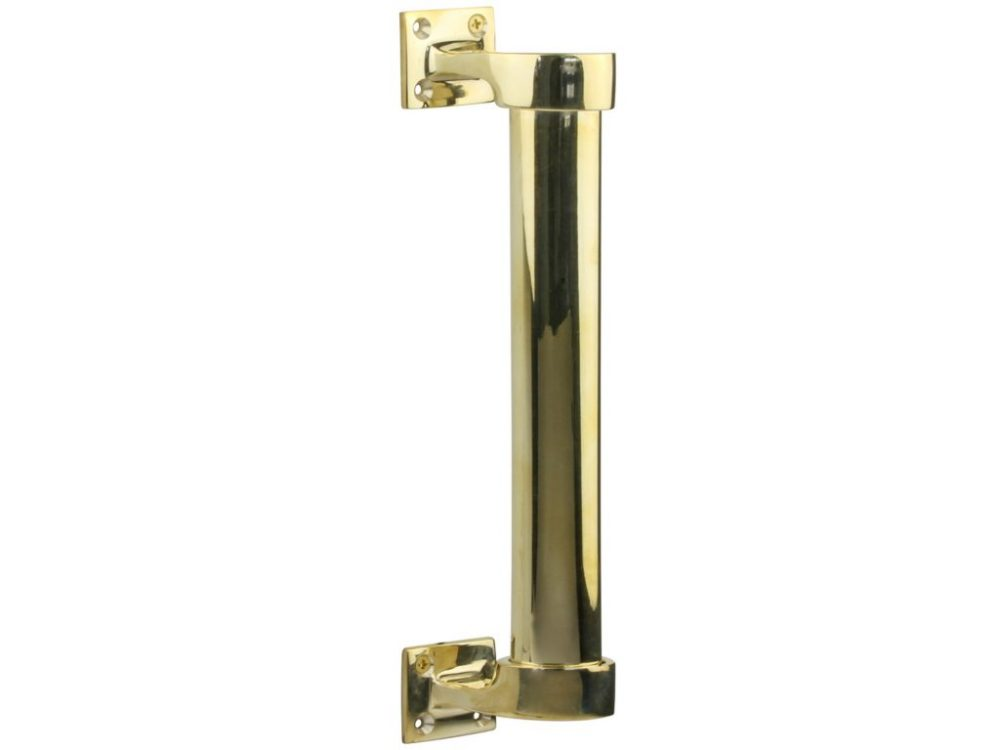 Drake And Wrigley 450mm Offset Brass Pull Handle