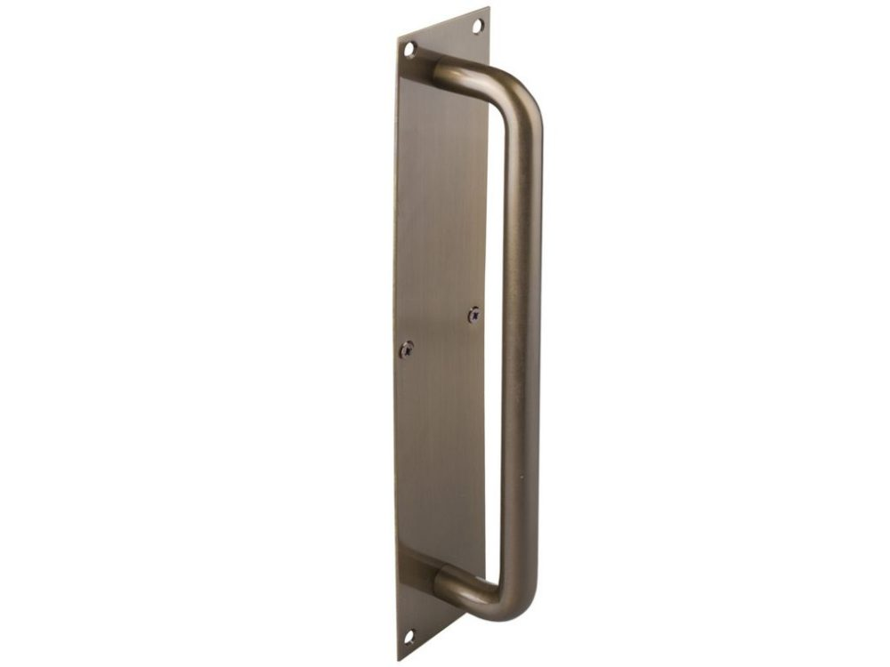Drake And Wrigley 200mm Solid Brass Pull Handle On Plate