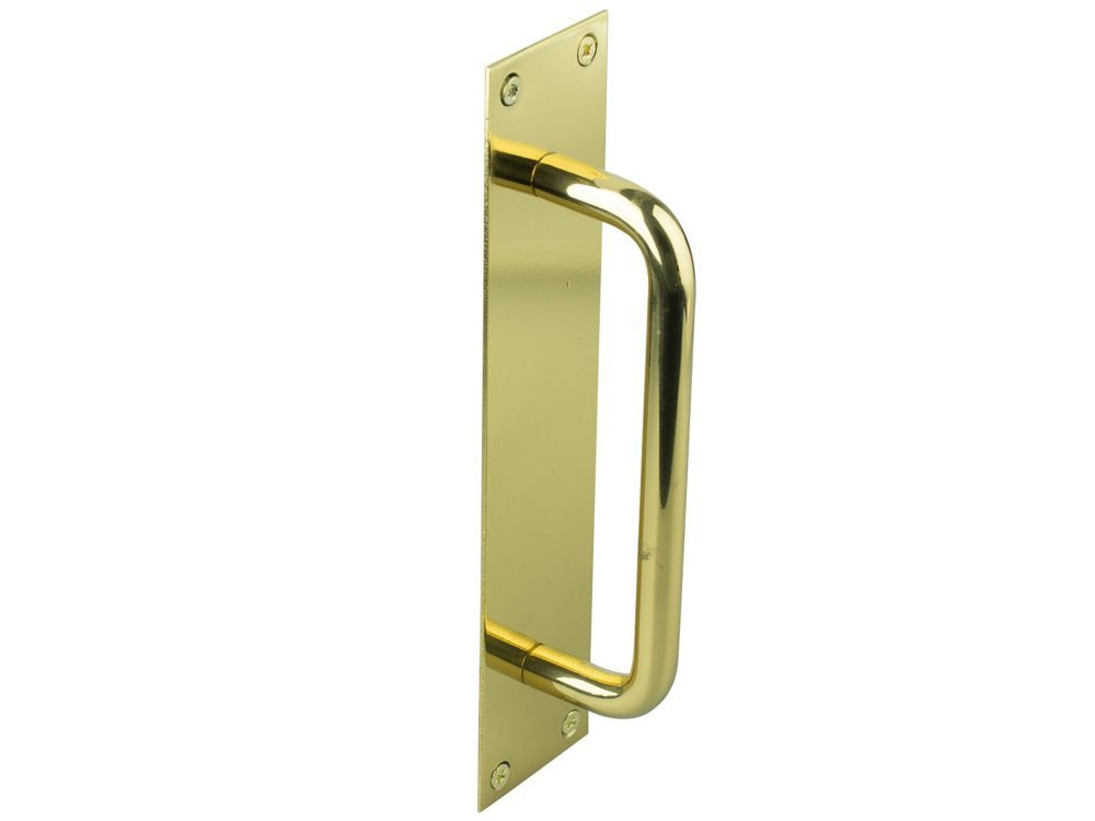 Drake And Wrigley 150mm Solid Brass Pull Handle On Plate