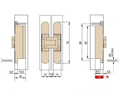 Ceam 24kg 3D Concealed Door Hinge