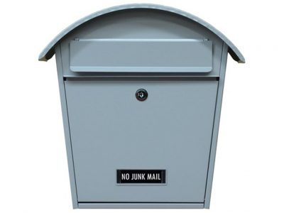 Elements Curved Locking Wall Mounted Letterbox