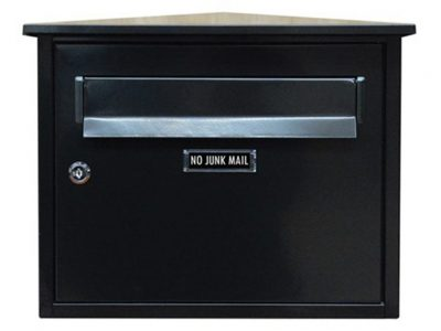 Elements Peaked Locking Wall Mounted Letterbox