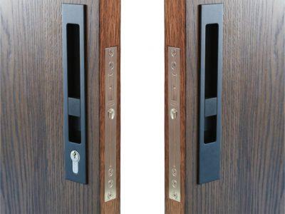 Zebratti 33mm Backset Locking Sliding Door Lock Key-Snib/Snib