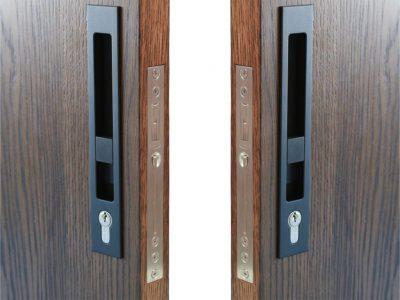 Zebratti 33mm Backset Locking Sliding Door Lock Snib-Key/Snib-Key