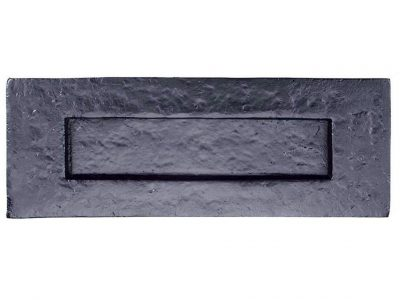 Elements Black Iron Spring Load Letterbox Front