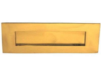 Elements Brass Spring Load Letterbox Front