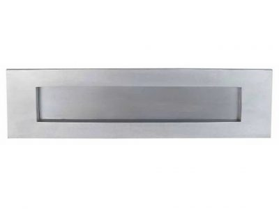 Elements Brass A4 Size Spring Loaded Letterbox Front