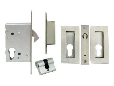 Windsor 102 x 51mm Square Key Locking Flush Pull Sets