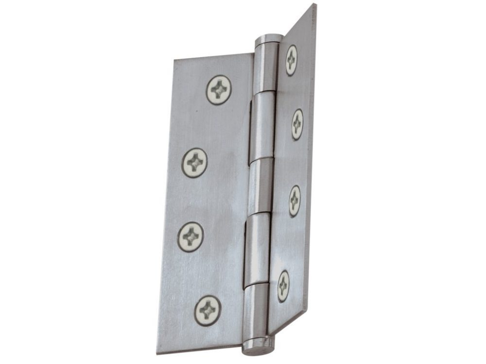 Windsor 101.6 x 76.2mm Stainless Fixed Pin Flat Tip Hinges