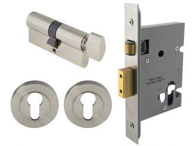 Windsor 57mm Round Roller Lock Kits Key Turn