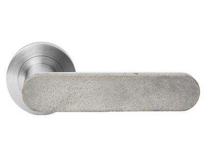 Concrete Club Lever On 53mm Round Rose