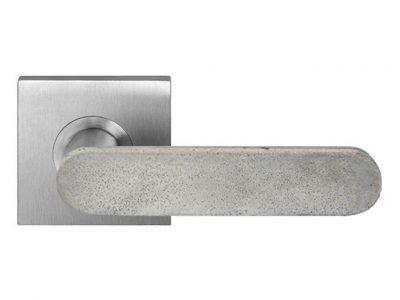 Concrete Club Lever On 63.5mm Square Rose