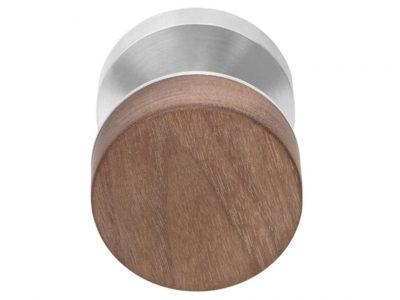 Timber 60mm Niki Knob On Round Rose